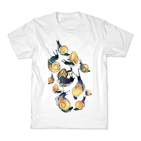 Golden Snail Shells Kids T-Shirt