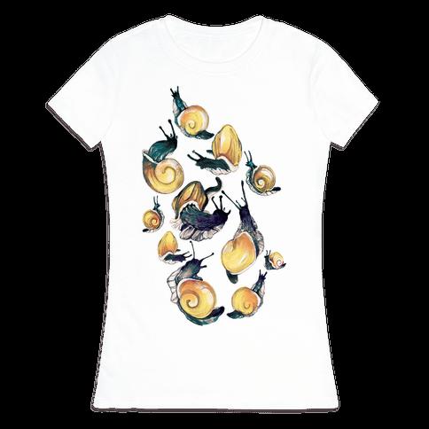 Golden Snail Shells Womens T-Shirt