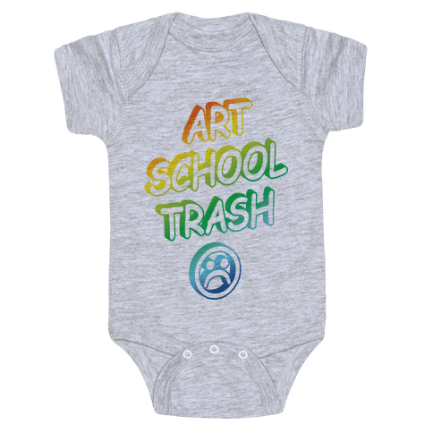 Art School Trash Baby Onesy