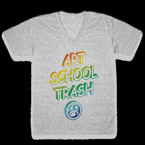 Art School Trash V-Neck Tee Shirt