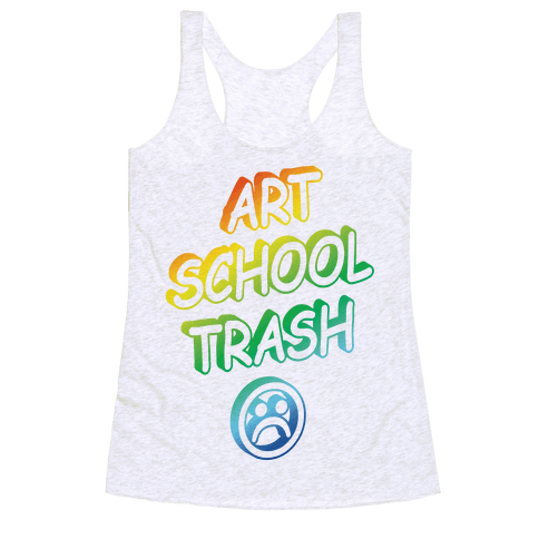 Art School Trash Racerback Tank Top