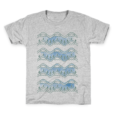 Watercolor Mountains Kids T-Shirt