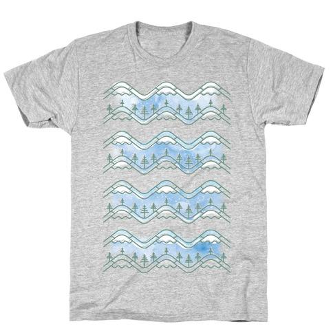 Watercolor Mountains T-Shirt