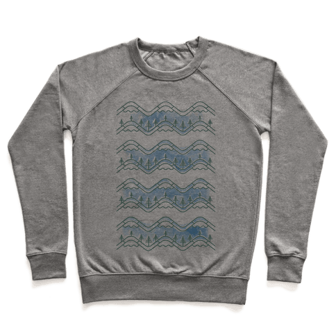 Watercolor Mountains Pullover