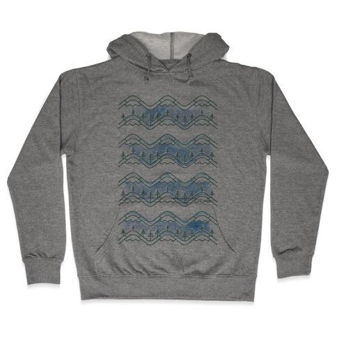 Watercolor Mountains Hooded Sweatshirt
