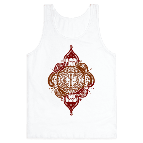 Rangoli Inspiration Pattern Tank Top