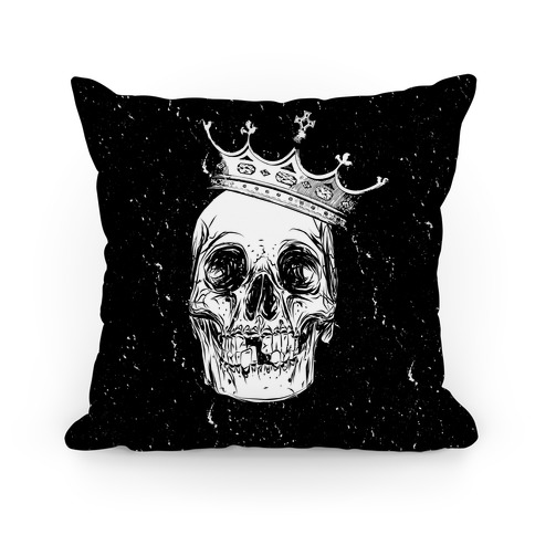 Skull and Crown (Black) Pillow
