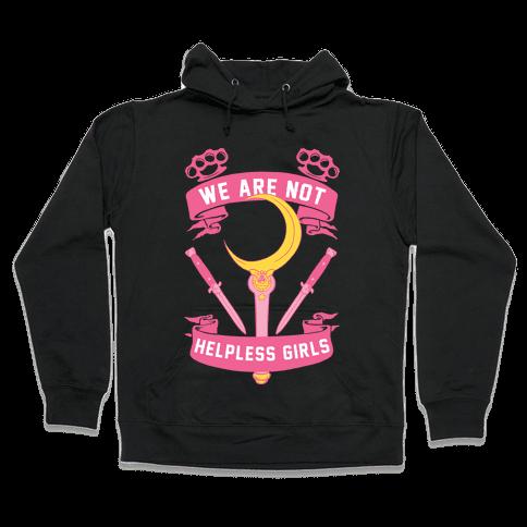 We Are Not Helpless Girls Moon Parody Hooded Sweatshirt