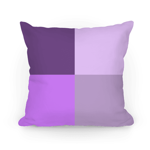 Purple Color Block - Throw Pillow - HUMAN