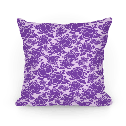 Purple Rose Pattern Pillow