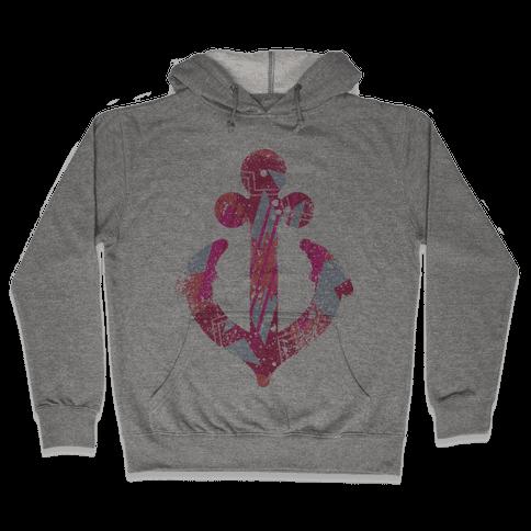 Aztec Anchor Hooded Sweatshirt