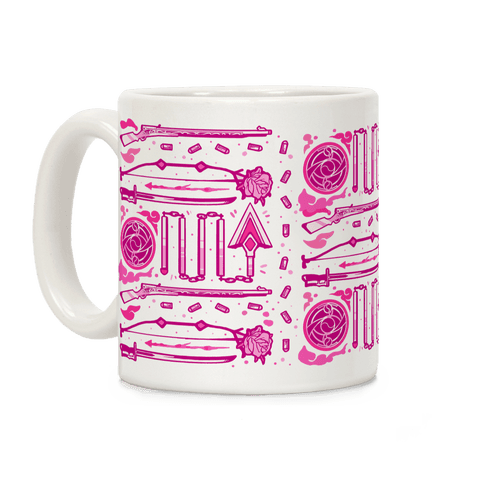 Madoka Magic Girl Weapons Pattern Coffee Mug