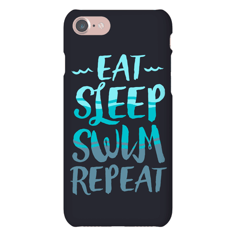 Eat Sleep Swim Repeat Phone Case