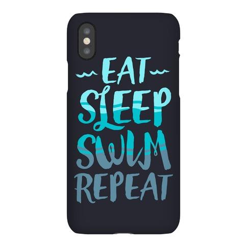 Eat Sleep Swim Repeat Phone Case
