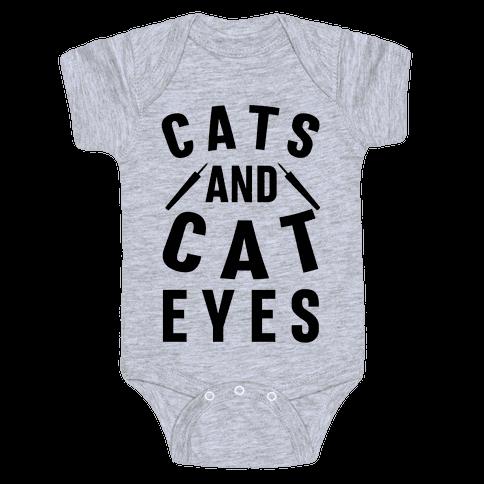 Cats and Cat Eyes Baby Onesy