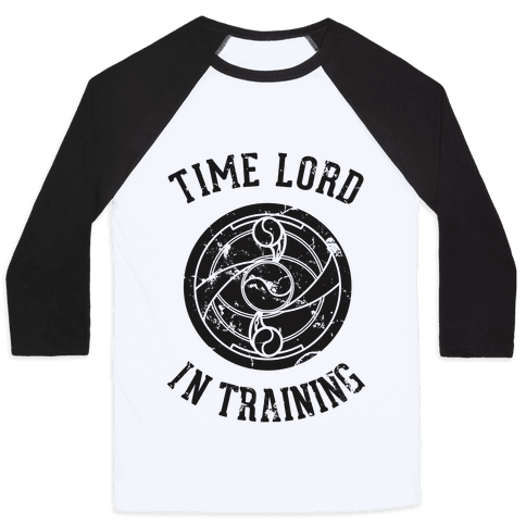 Time Lord In Training Baseball Tee
