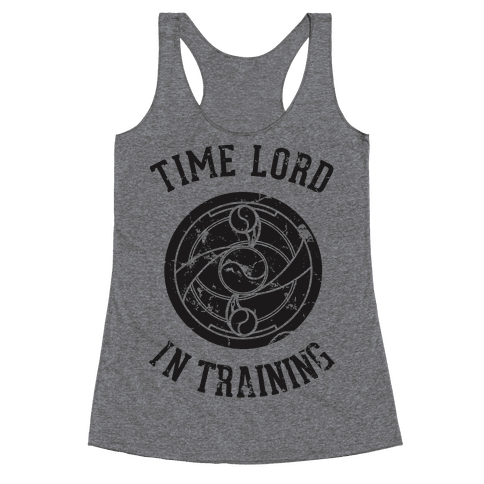 Time Lord In Training Racerback Tank Top