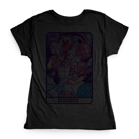 (Magical Girl) Strength Tarot Card Womens T-Shirt