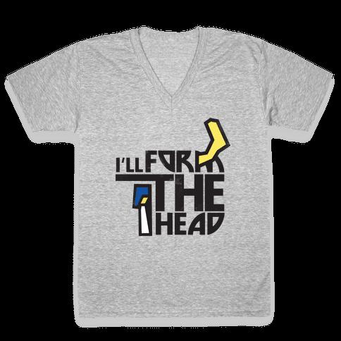 Form the Head V-Neck Tee Shirt