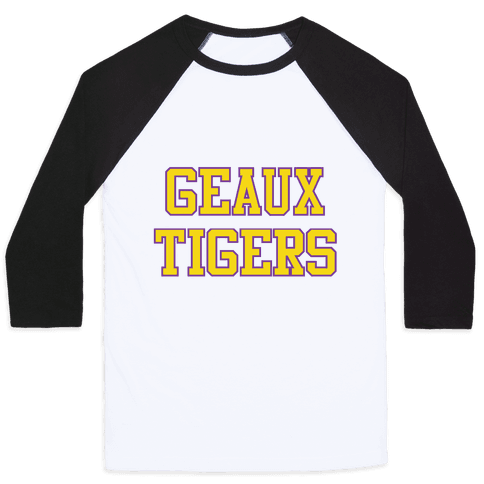Geaux Tigers Baseball Tee