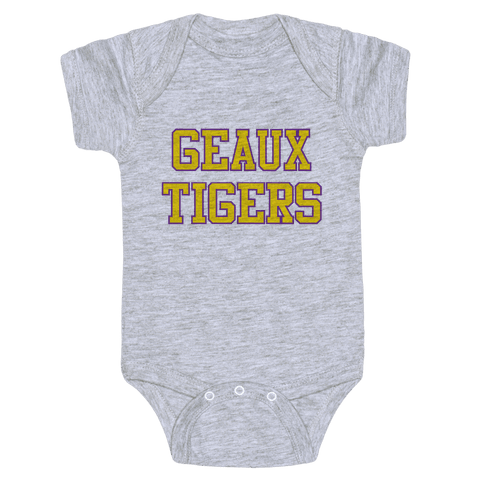 Geaux Tigers Baby Onesy