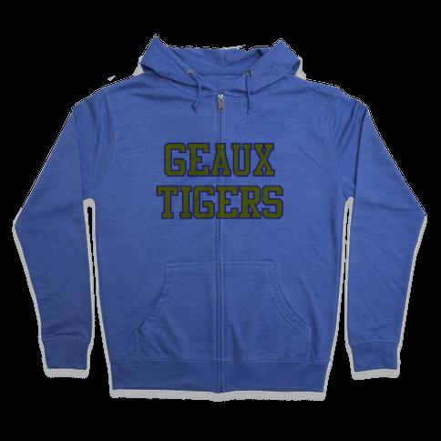 Geaux Tigers Zip Hoodie