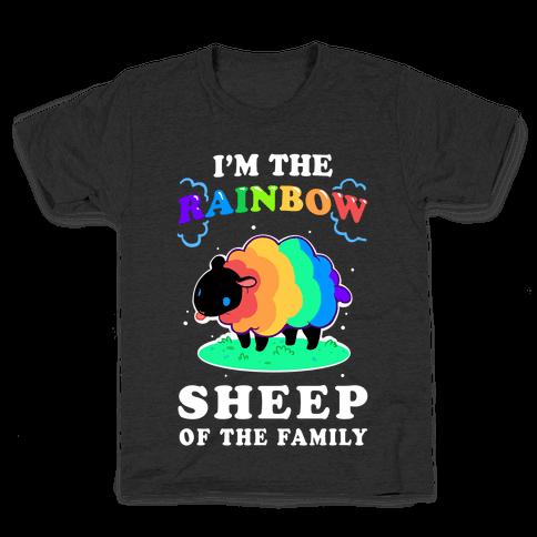 I'm The Rainbow Sheep Of The Family Kids T-Shirt