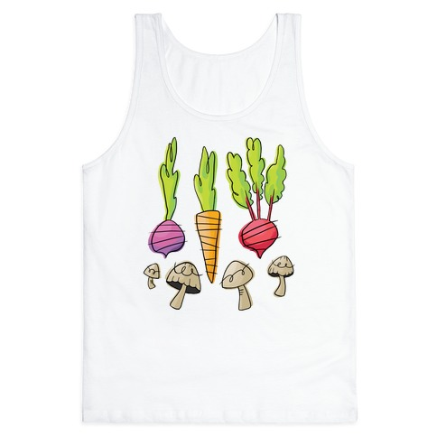 Retro Vegetable Pattern Tank Top