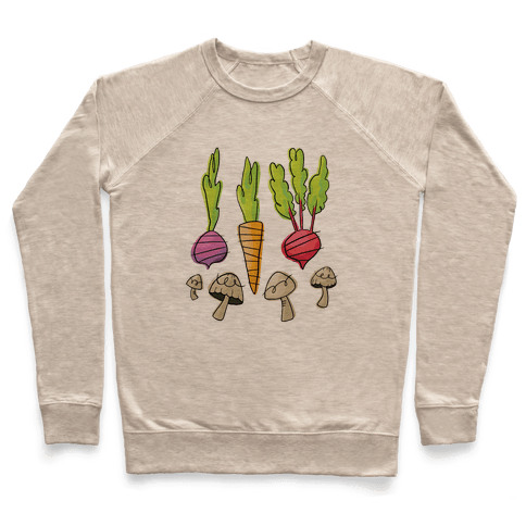 Retro Vegetable Pattern Pullover