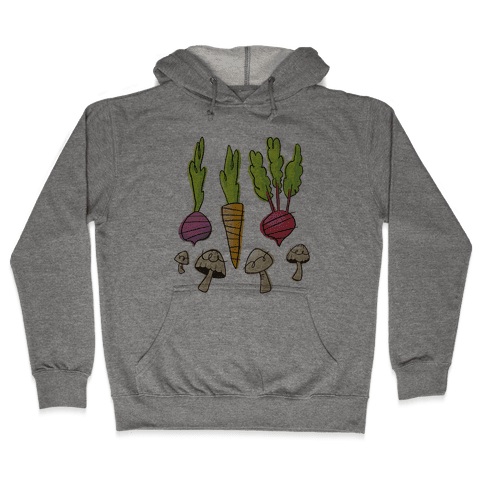 Retro Vegetable Pattern Hooded Sweatshirt
