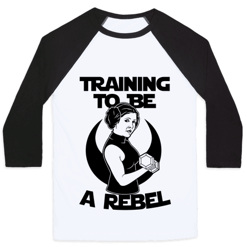 Training To Be A Rebel Baseball Tee