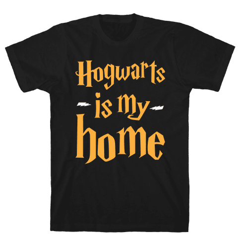 Hogwarts Is My Home Mens T-Shirt