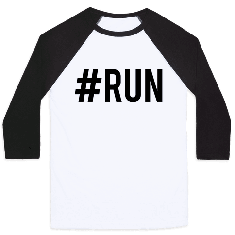 #Run Baseball Tee