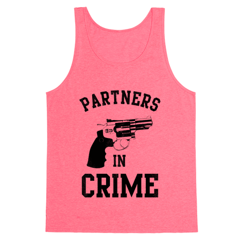 Partners in Crime! (Neon Pink Right) Tank Top