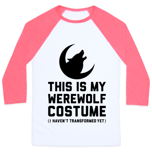 Werewolf Costume Baseball Tee