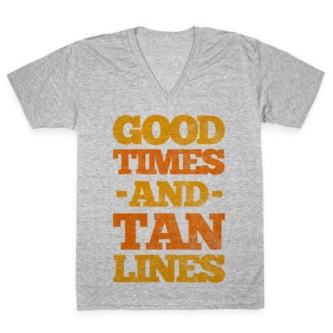 Good Times And Tan Lines V-Neck Tee Shirt