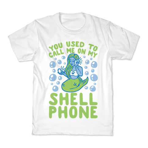 Call Me On My Shell Phone Kids T-Shirt