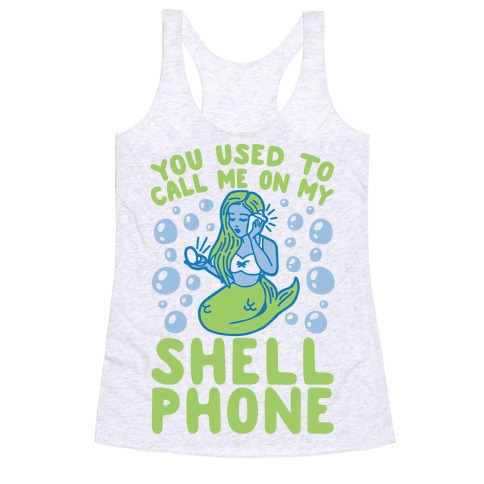 Call Me On My Shell Phone Racerback Tank Top