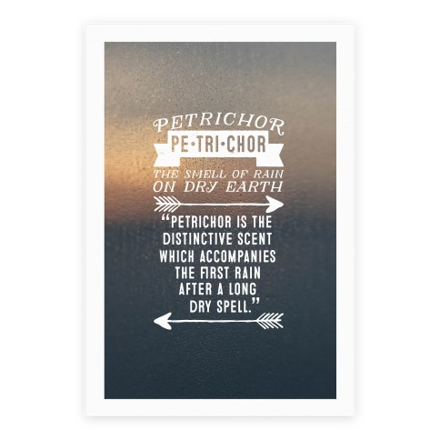 Petrichor Definition Poster