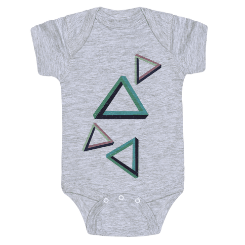 The Impossible Triangle Baby Onesy