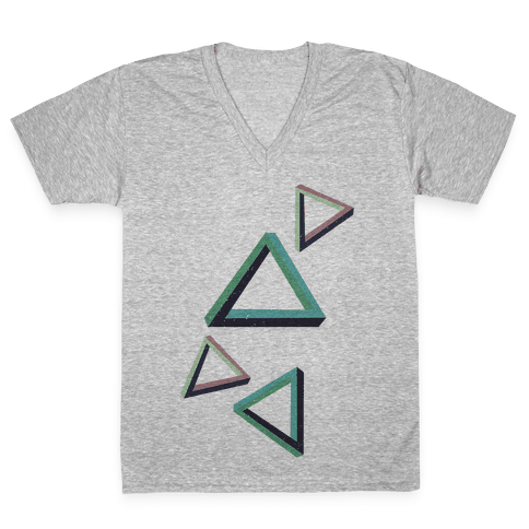 The Impossible Triangle V-Neck Tee Shirt
