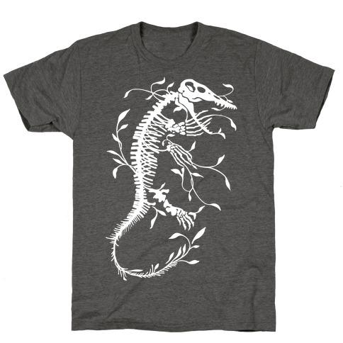 Floral Dinosaur Mosasaur T-Shirt