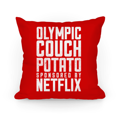 Olympic Couch Potato Pillow