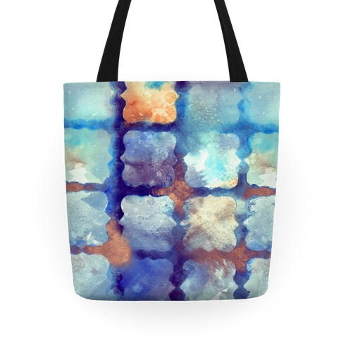 Watercolor Rainbow Texture Pattern Tote
