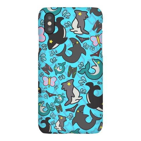 Splash Free! Team Mascot Pattern Phone Case