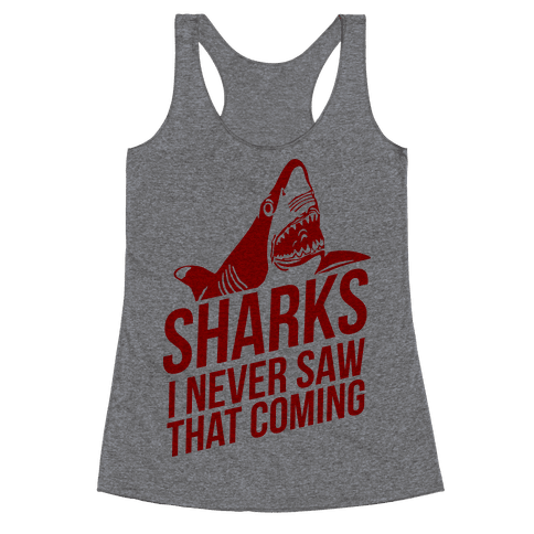 Sharks! Racerback Tank Top