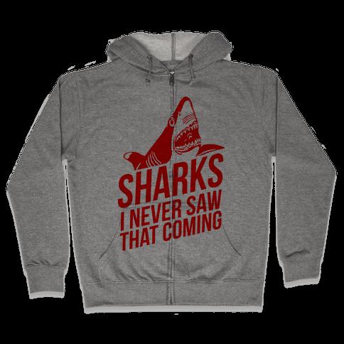 Sharks! Zip Hoodie