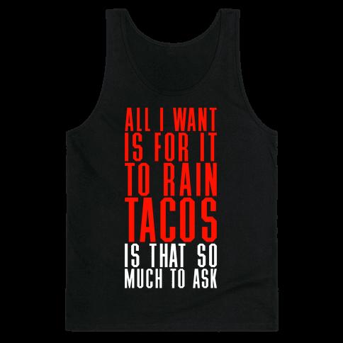 Rain Tacos Tank Top