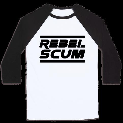 Rebel Scum Baseball Tee