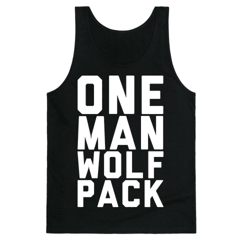 One Man Wolf Pack Tank Top